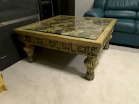 rectangular brown wooden coffee table King City