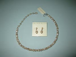 Delmonico pearl and crystal jewelry set