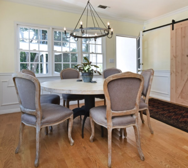 Wood Round Dining Table Set For 6