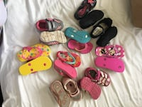 Assorted toddler girl shoes sizes 5-7/8