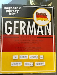 German Magnetic Poetry  Kit  New in box / German language Creativity & Language skills Alexandria, 22311