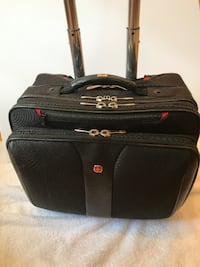 black and red leather bag Wake Forest