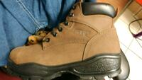 pair of brown Timberland work boots Salaberry-de-Valleyfield, J6S 3J2