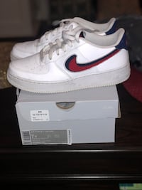 Air force 1 red and blue size 7