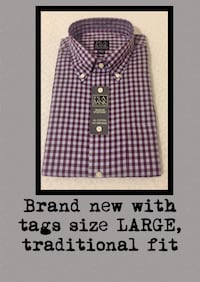 BRAND NEW with tags Jos.A. Bank men's long sleeve shirt Jackson, 39206
