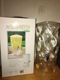 Clear acrylic beverage dispenser