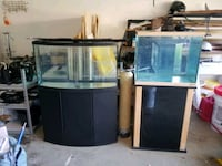 2 tanks 43 gallon bowfront and 30 gallon oceanic tanks and stands Houston