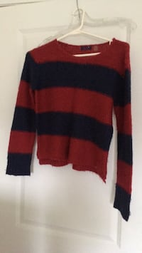 Red and black striped sweater Dex for girls large size Toronto, M4A 0A3