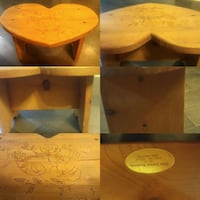 custom made Heart Stool by Elma woodworking  Winnipeg, R2L 0X1
