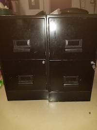 Pair of file cabinets