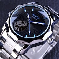 Brand  New Ocean Blue Geometry Design Mechanical Automatic Skeleton Watch Water Resistant Henrico, 23238