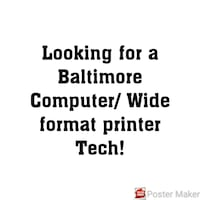 looking for a printer expert Baltimore