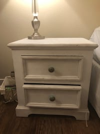 White shabby chic night stsnd  Los Angeles, 90036