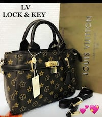 borsa Louis Vuitton Monogram Canvas Lock & Key in pelle a 2 vie con scatola
