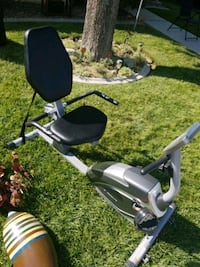 High capacity magnetic recumbent exercise bike.