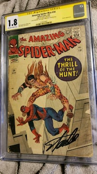 Amazing Spider-Man 34 Signed by Stan Lee CGC 1.8 Catonsville, 21228
