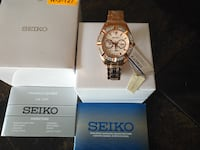 NEW Seiko SKY680P1 Rose Gold With Swarovski Elements Watch   Toronto
