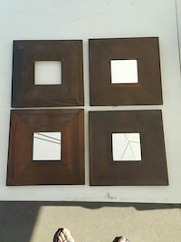 4 ikea mirrors (one without ) Kelowna