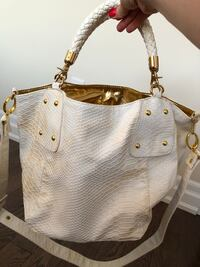 women's white leather shoulder bag King, L7B