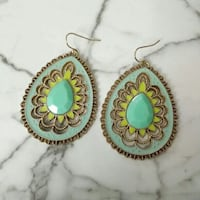teal tear drop hook earrings Palm Coast, 32137