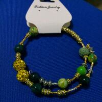 beaded white and green bracelet The Bronx, 10457