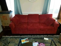 Red couch Sterling