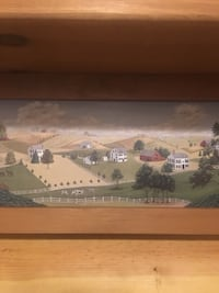 Plate shelf with farm scene Hedgesville, 25427
