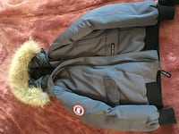 Blue navy chilliwak bomber fur jacket canada goose Richmond, V6Y 2B3