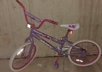 purple and pink bicycle, foot brake null