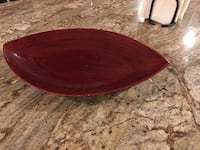 Red table decoration or platter