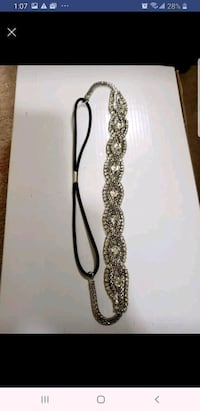 silver and black beaded necklace Surrey, V3W 3T3