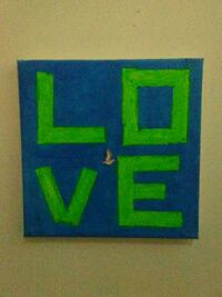 blue and green Love poster Renfrew, K7V