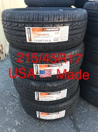 New Hankook Ventus Tire Set of 4 215/45R17 Honda Nissan Ford Toyota. USA Made
