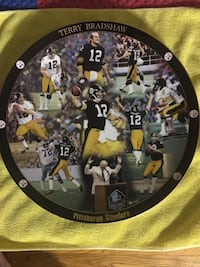 Pittsburgh Steelers Terry Bradshaw commemorative plate 175 mi
