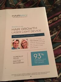 HairMax, laser light device