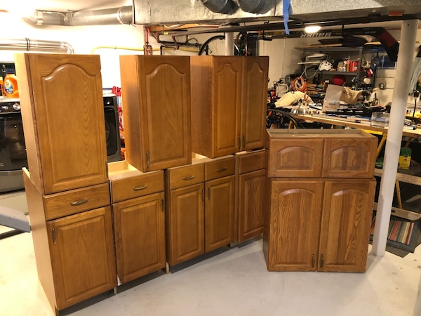 Used Kitchen Cabinets Oak Used Descent Condition for sale ...
