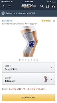 High grade knee brace - brand new and unused Toronto, M1P 5H2
