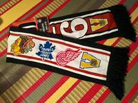 New NHL Original Six knitted scarf