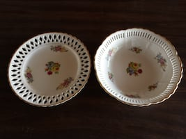 Open Lace Rim Serving Bowl and Plate