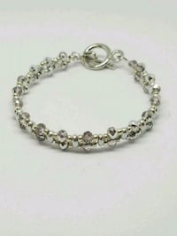 Double strand pink/silver crystal bracelets Colorado Springs, 80904