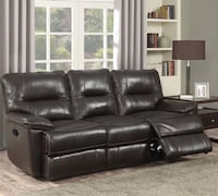 2pc brown leather recliner sofa and loveseat Jessup, 20794