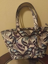 brown and black floral tote bag San Juan, 78589