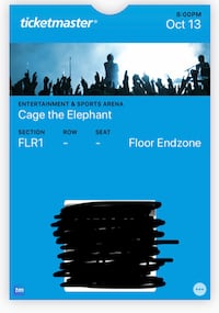 Cage the elephant ticket null