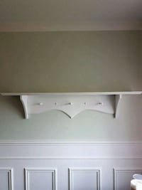 white wooden 2-layer TV stand Montreal, H1C 0B2