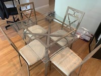 5 piece dining set - tempered glass table Silver Spring, 20910