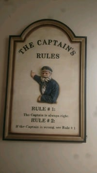 Captains rules wall sign Kingsport, 37663