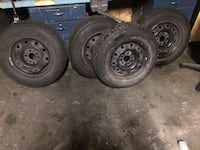 Michelin winter tires with rims all ready to go for the season