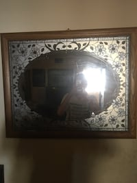 Antique, hand stenciled Boston pub mirror from the 1940's. Was reframed in 1977 but is the original mirror. Henderson, 89014