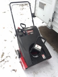 black and red Craftsman snow blower