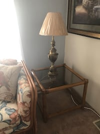 Glass top end table with brass lamp New Port Richey, 34653